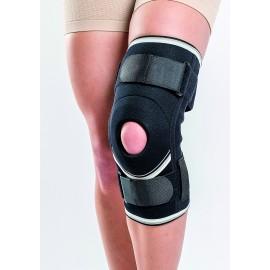 Orteza genunchi mobila cu suport patelar si atele metalice